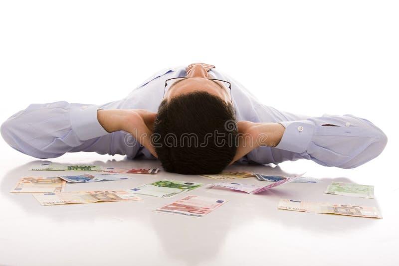Homem de negócios rico fotografia de stock royalty free