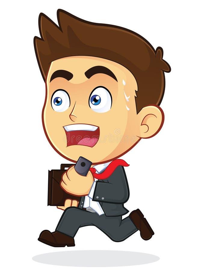 Homem de negócios running ilustração royalty free
