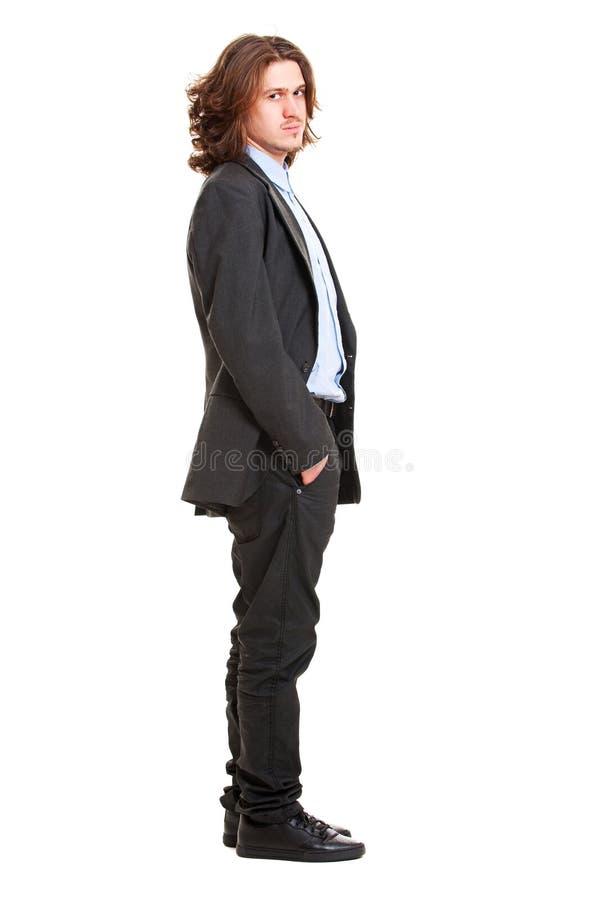 Homem de negócios sério imagens de stock