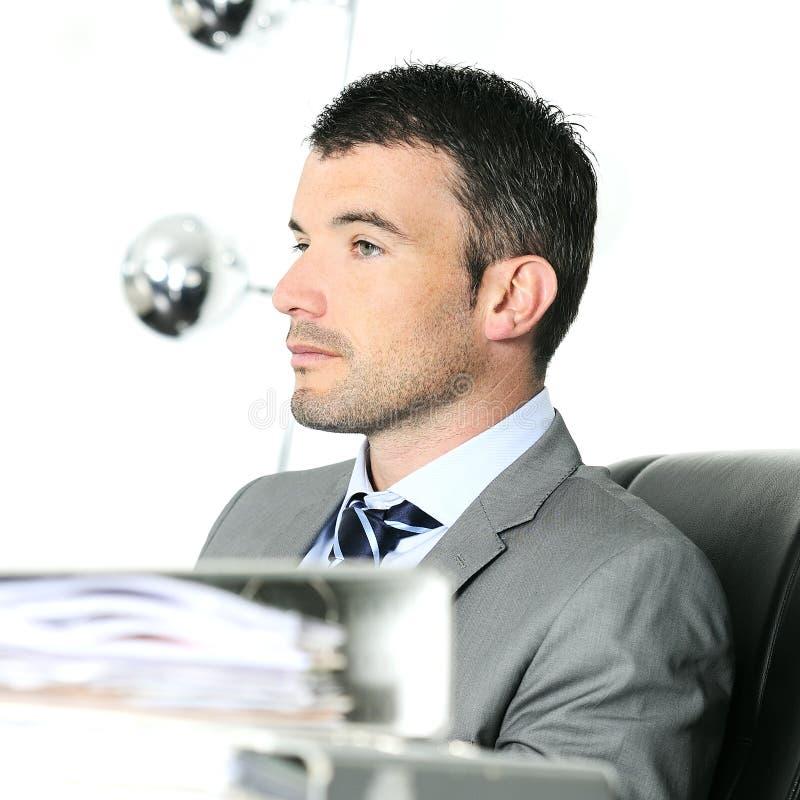 Homem de negócios sério fotografia de stock