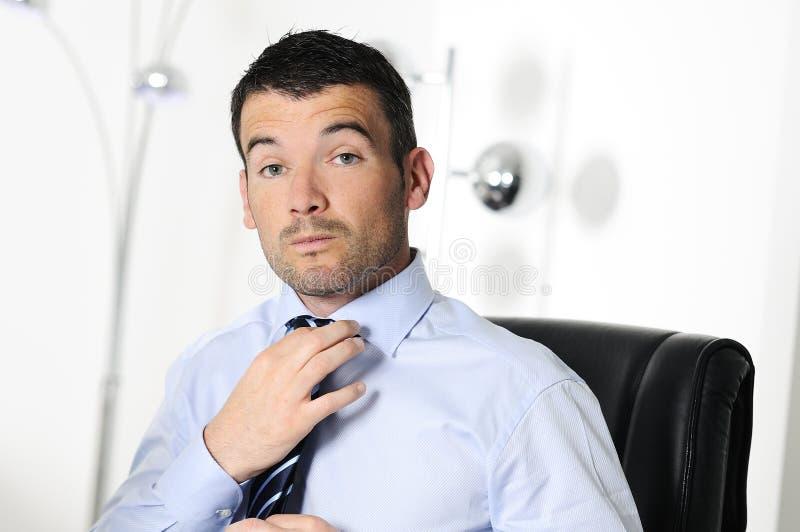 Homem de negócios sério fotos de stock royalty free