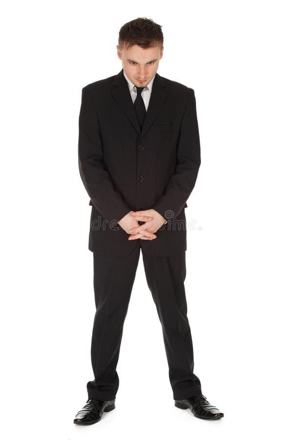 Homem de negócios sério, comprimento cheio foto de stock