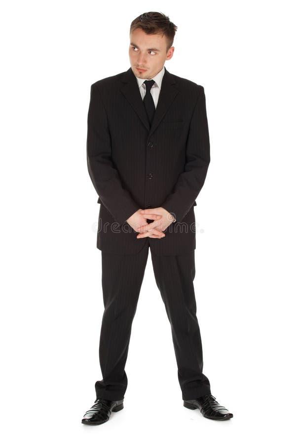 Homem de negócios sério, comprimento cheio fotos de stock royalty free