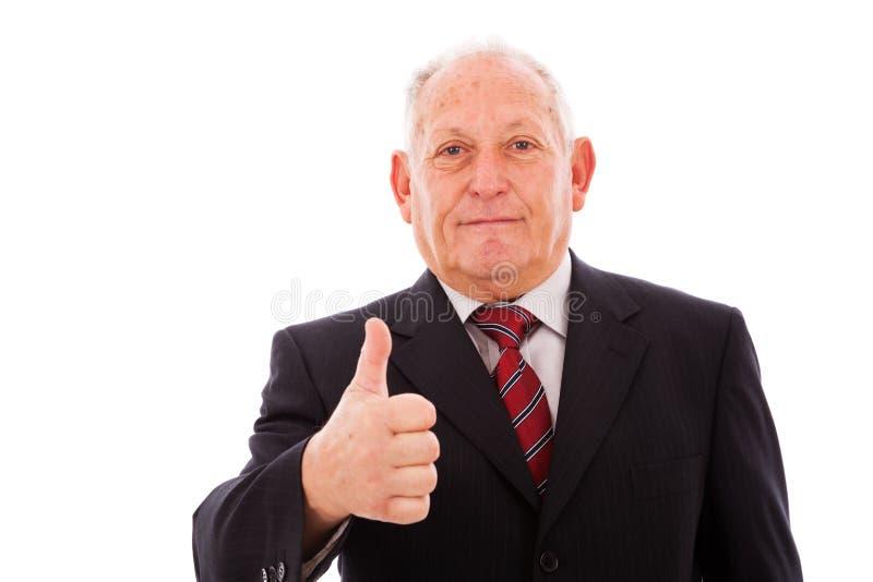 Homem de negócios sênior imagens de stock royalty free