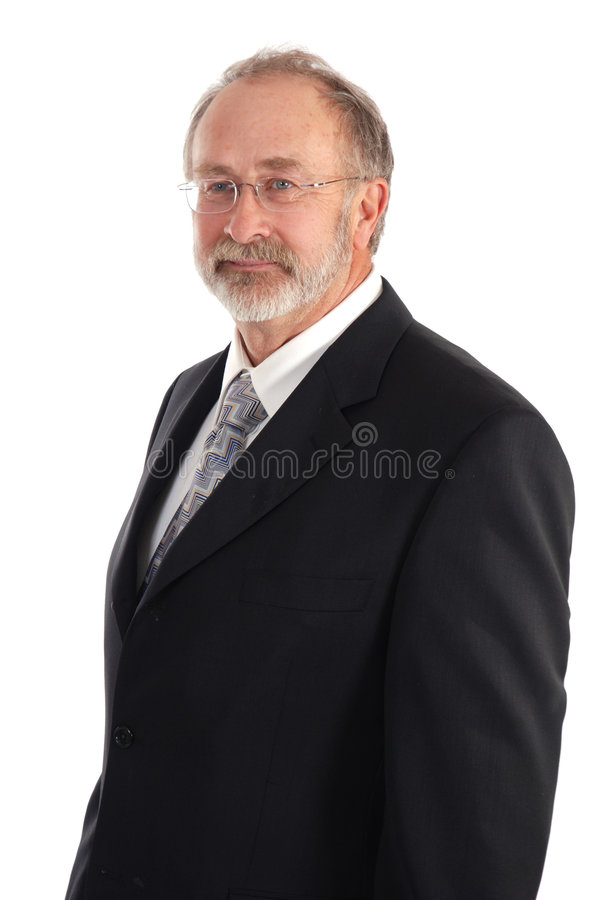 Homem de negócios sênior foto de stock royalty free