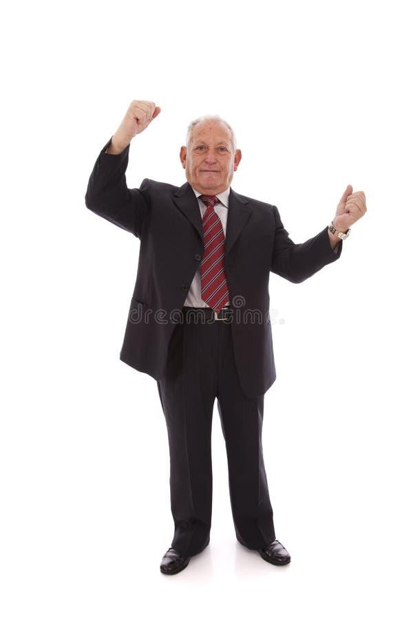 Homem de negócios sênior bem sucedido imagem de stock