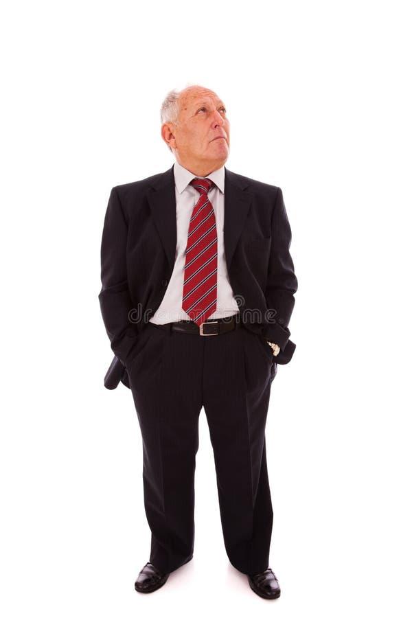 Homem de negócios sênior cheio foto de stock royalty free