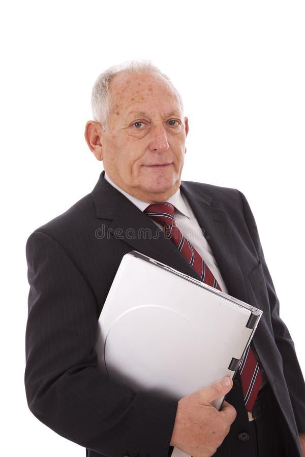 Homem de negócios sênior moderno fotos de stock royalty free