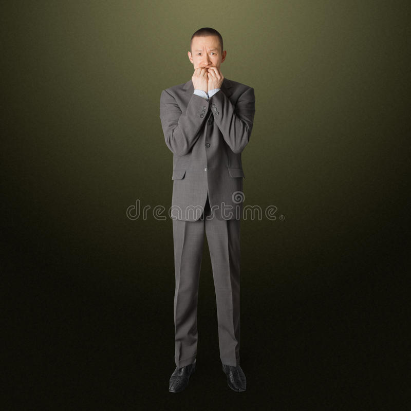 Homem de negócios Scared foto de stock royalty free