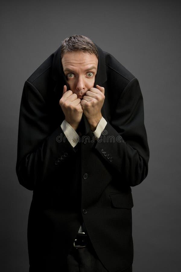 Homem de negócios Scared fotografia de stock royalty free