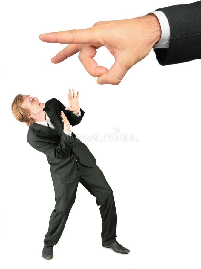 Homem de negócios Scared imagens de stock