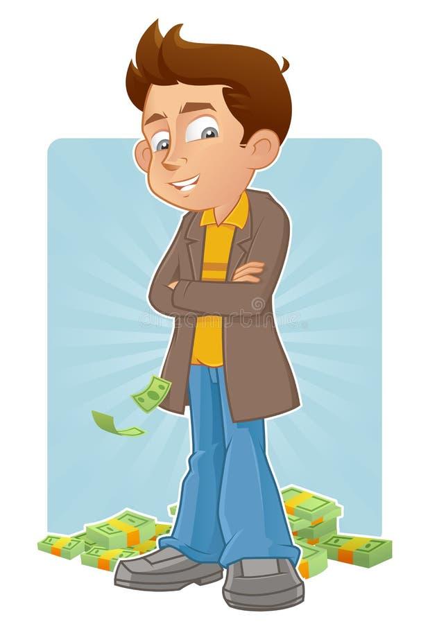 Homem de negócios seguro ilustração stock