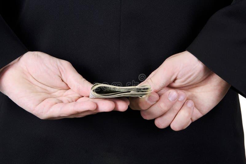 Homem de negócios Sends Money Back Isolado fotos de stock