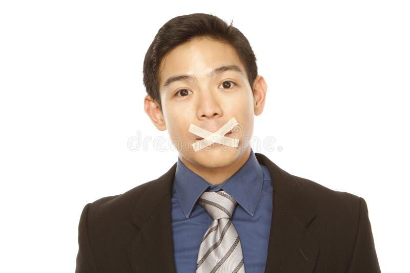 Homem de negócios silenciado fotos de stock royalty free