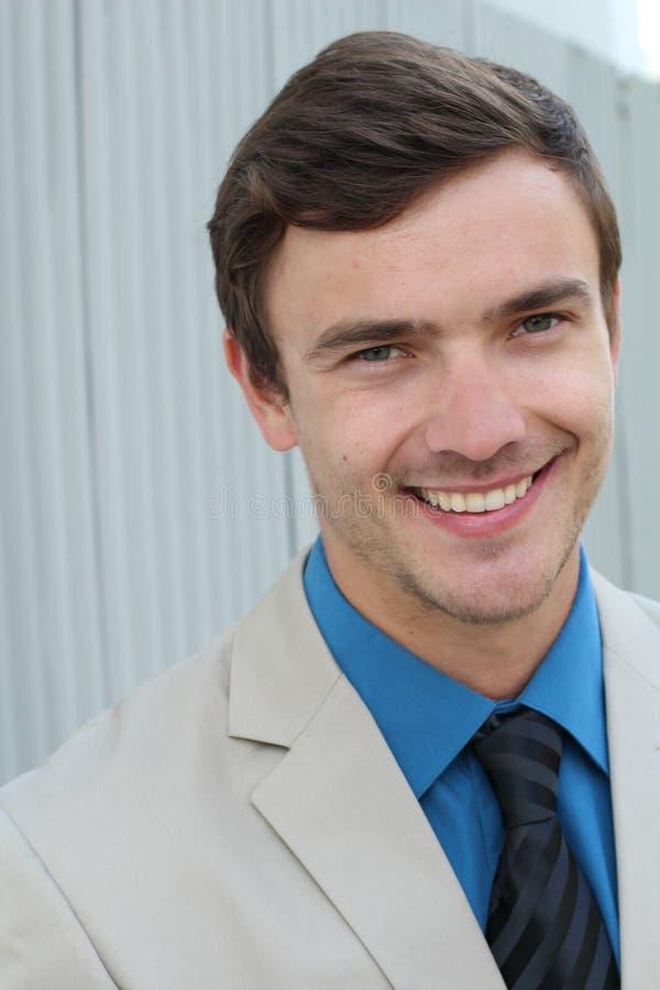 Homem de negócios Smiling, homens, negócio imagem de stock