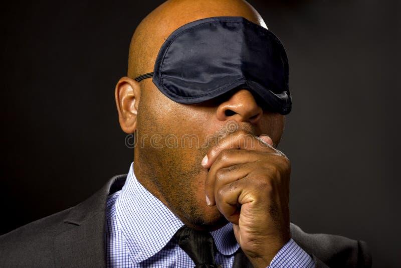 Homem de negócios sonolento fotos de stock