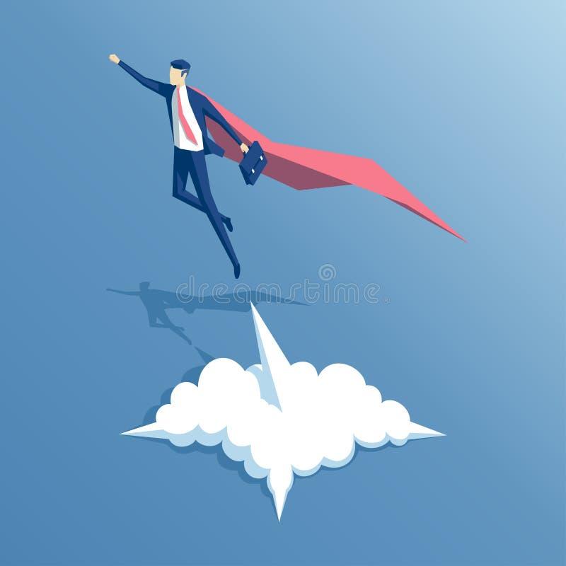 Homem de negócios super isométrico ilustração stock
