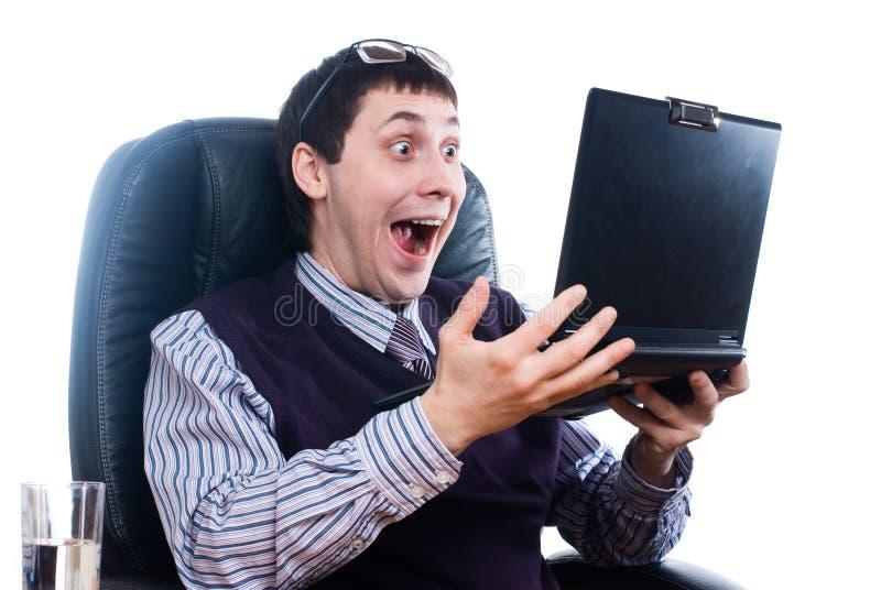 Homem de negócios surpreendido fotos de stock royalty free