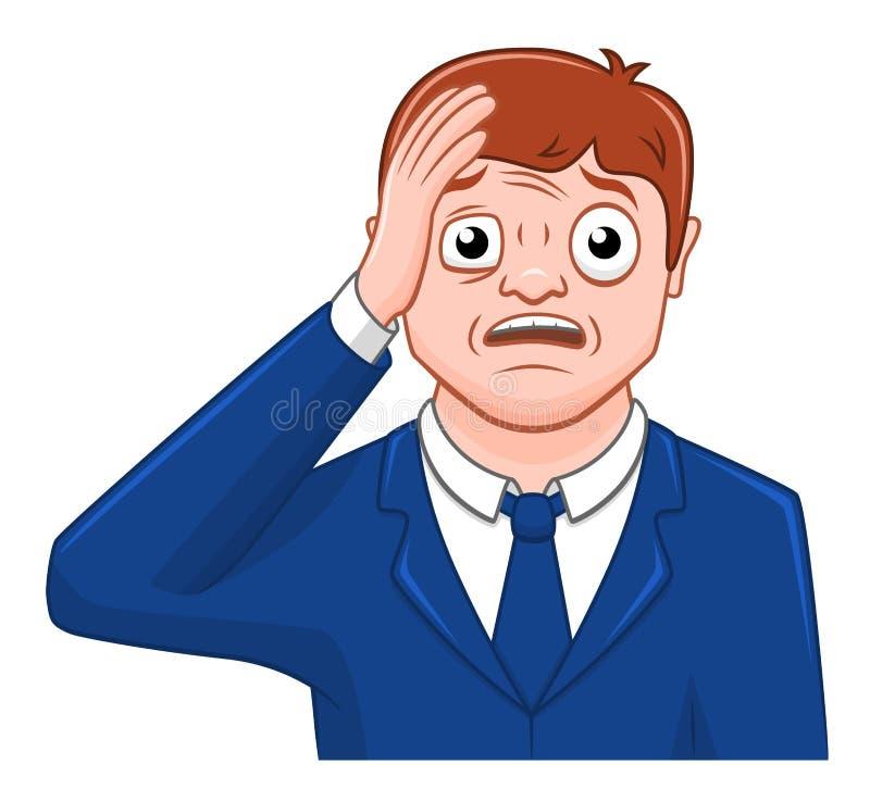 homem de negócios surpreendido desenhos animados ilustração do vetor