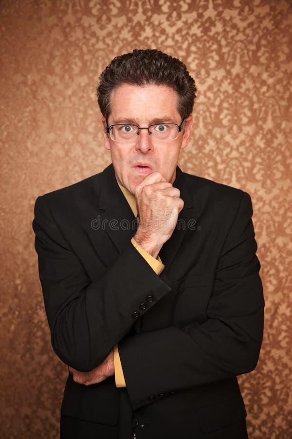 Homem de negócios tenso fotografia de stock royalty free