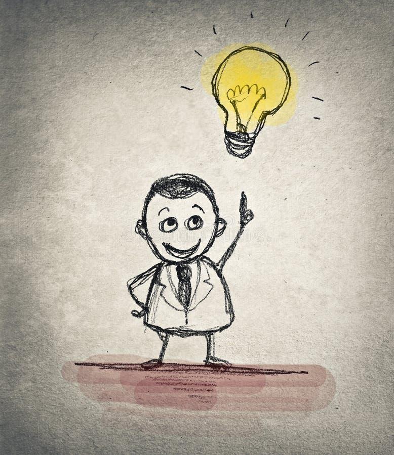 Homem de negócios tirado ilustração stock
