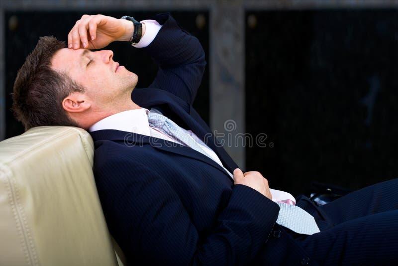 Homem de negócios Tired fotos de stock royalty free