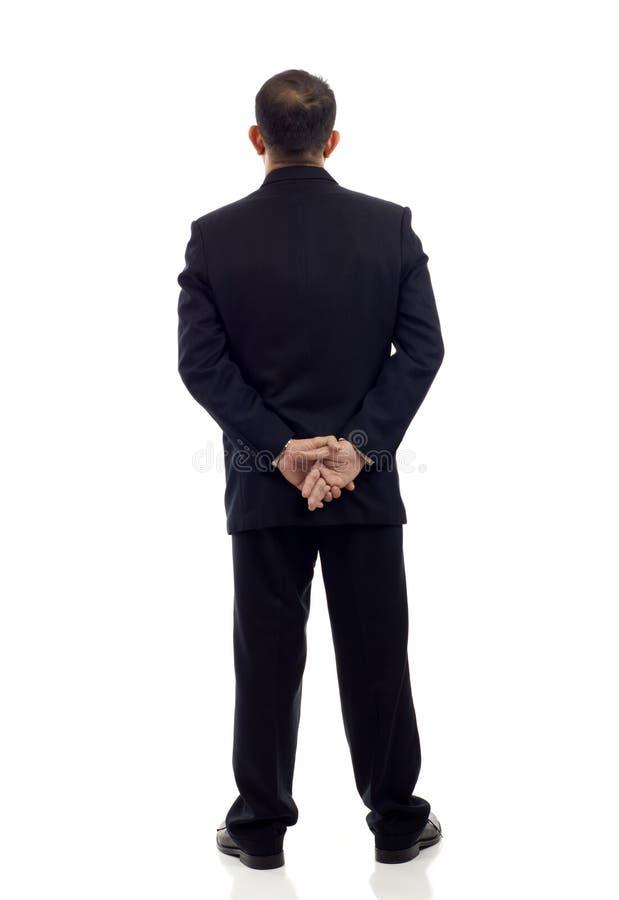 Homem de negócios traseiro da vista imagem de stock royalty free
