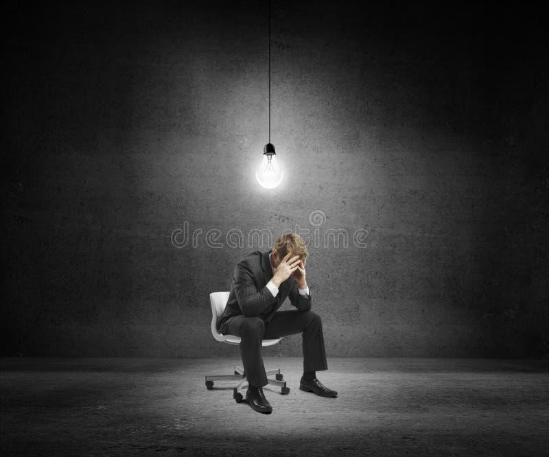 Homem de negócios triste fotografia de stock royalty free