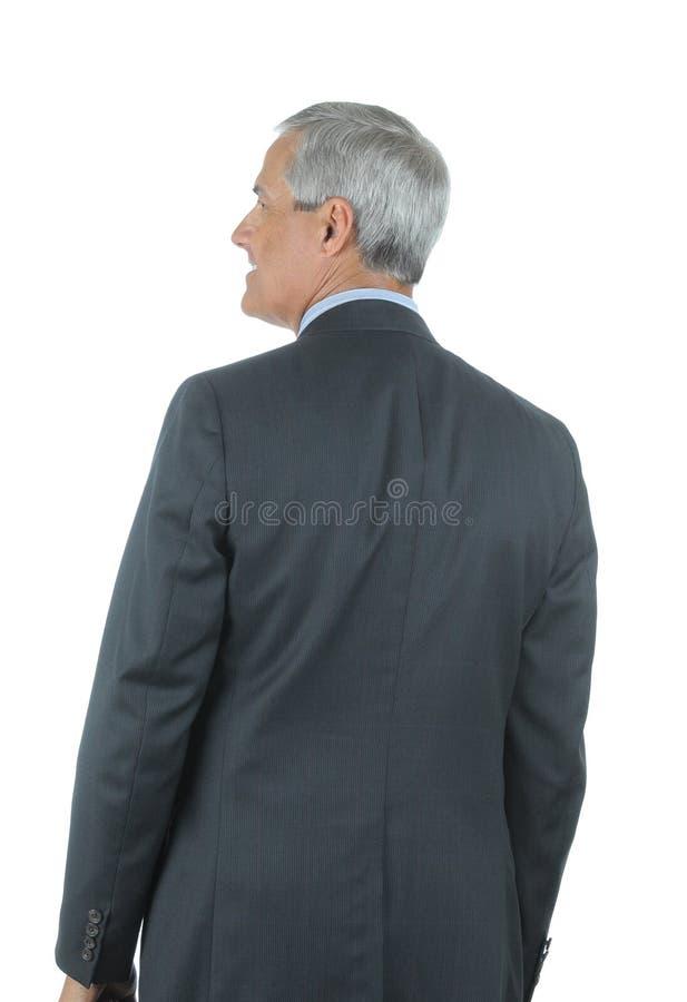 Homem de negócios visto de atrás imagens de stock royalty free