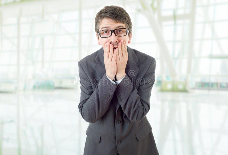 Homem de neg?cios surpreendido fotografia de stock royalty free