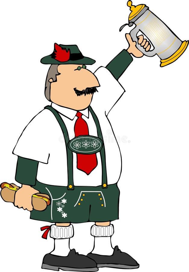 Homem de Oktoberfest ilustração do vetor