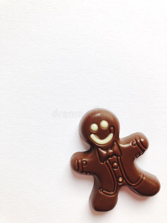 Homem de pão-de-espécie do chocolate imagens de stock