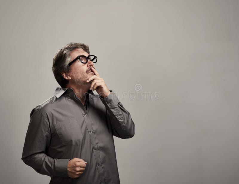 Homem de pensamento fotografia de stock