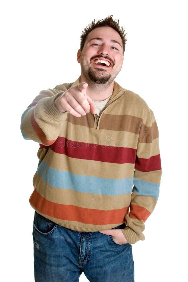 Homem de riso foto de stock