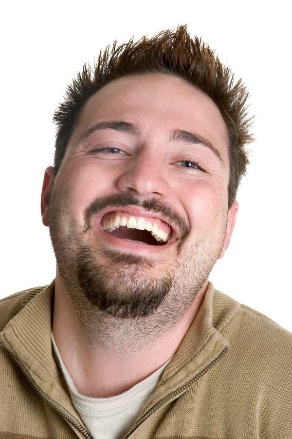 Homem de riso imagens de stock