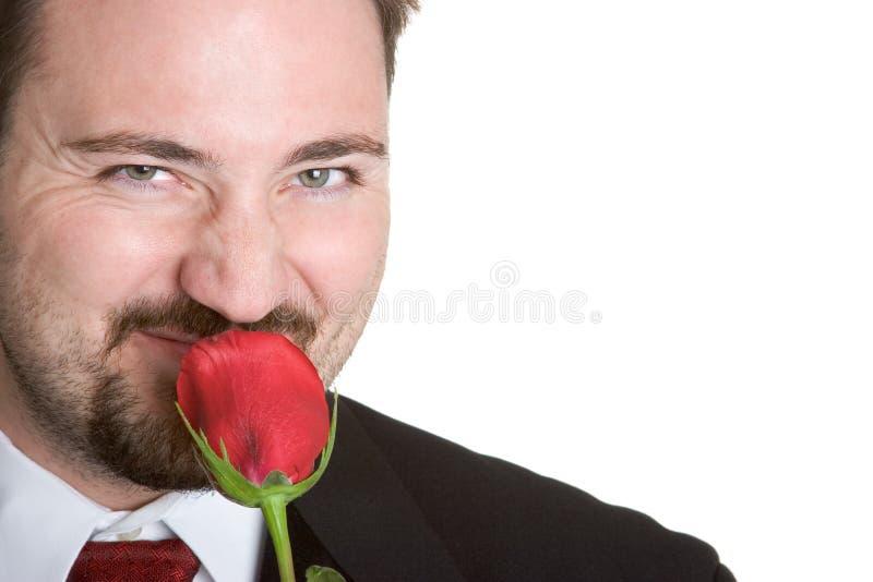 Homem de Rosa imagens de stock