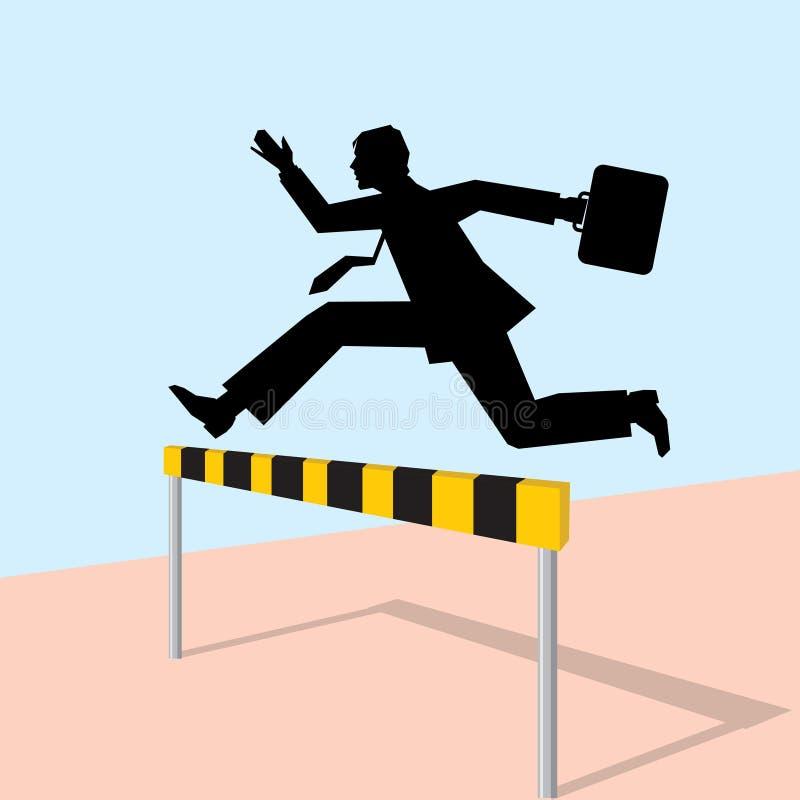 Homem de salto com saco ilustração stock