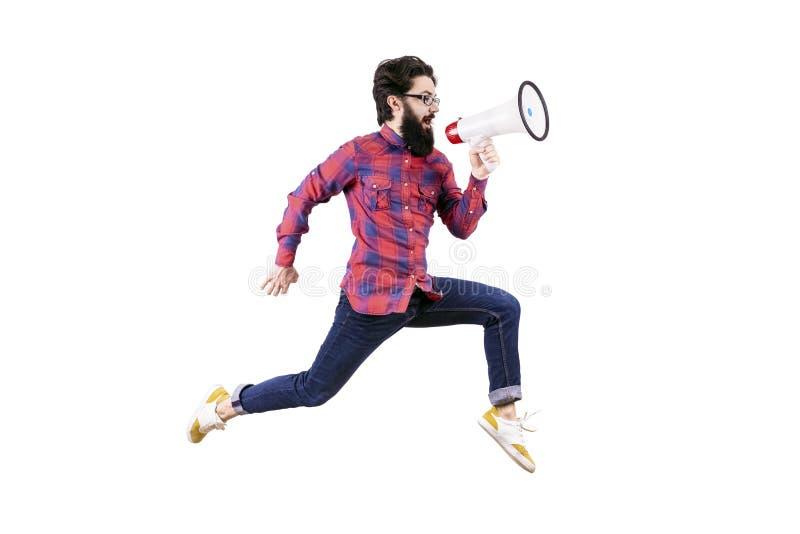 Homem de salto do moderno fotos de stock