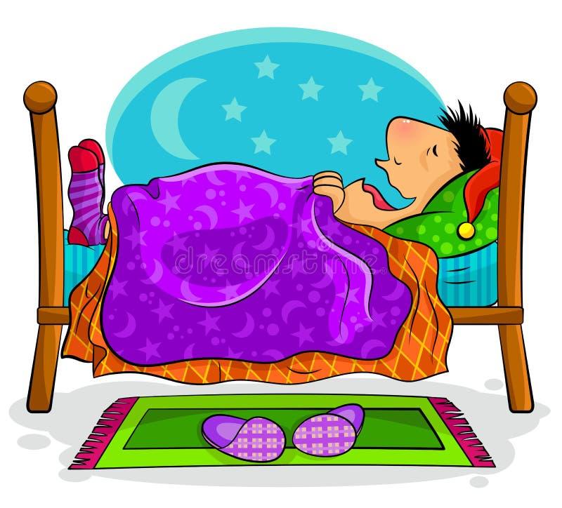 Homem de sono ilustração royalty free