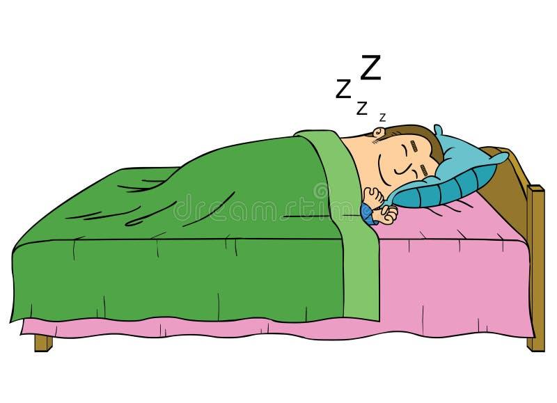 Homem de sono ilustração do vetor