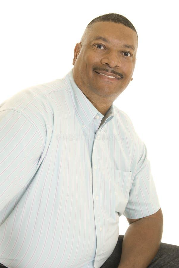 Homem de sorriso do americano africano fotografia de stock