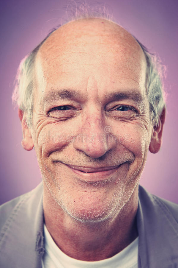 Homem de sorriso do retrato foto de stock