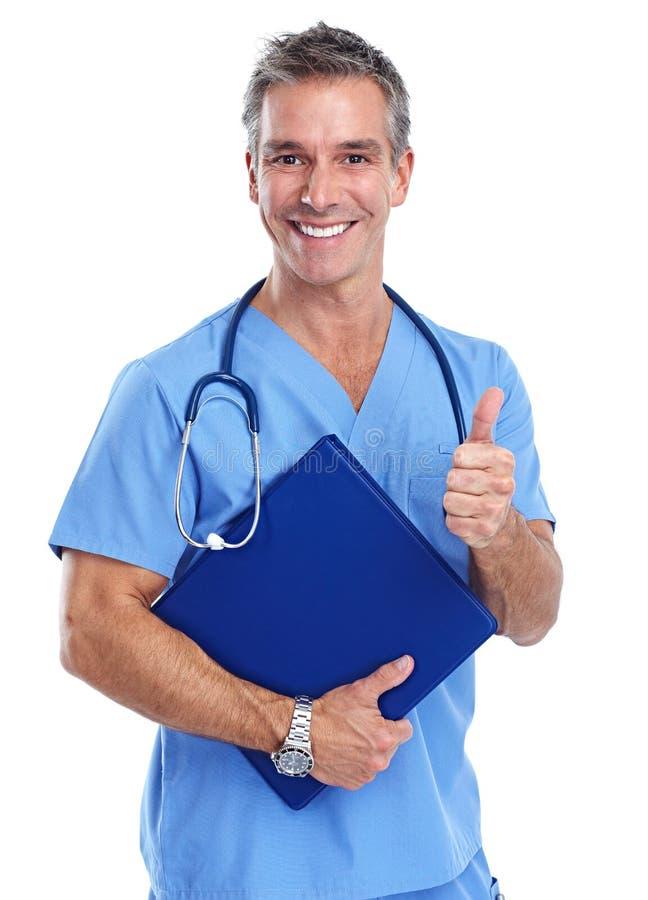Homem de sorriso feliz do doutor fotos de stock