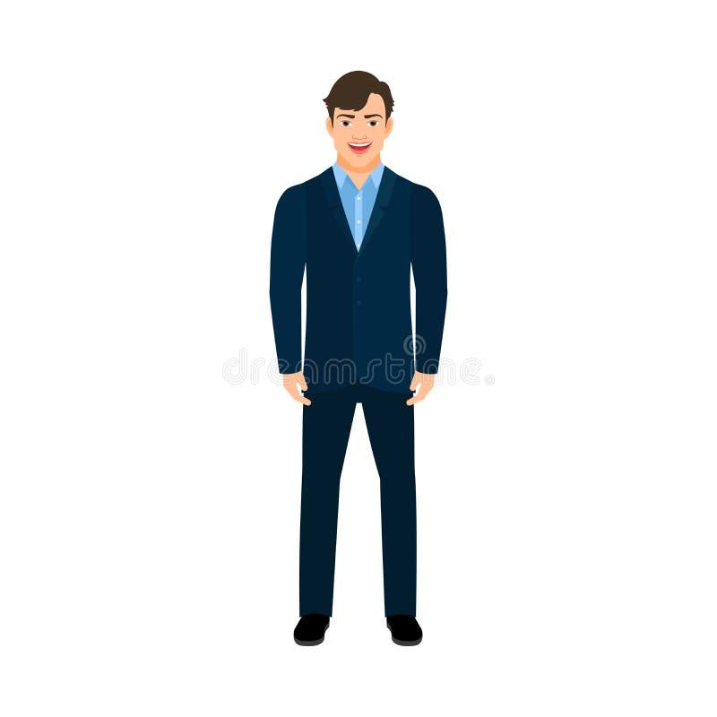 Homem de sorriso novo do gerente ilustração stock