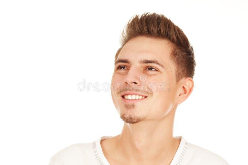 Homem de sorriso novo isolado fotos de stock royalty free