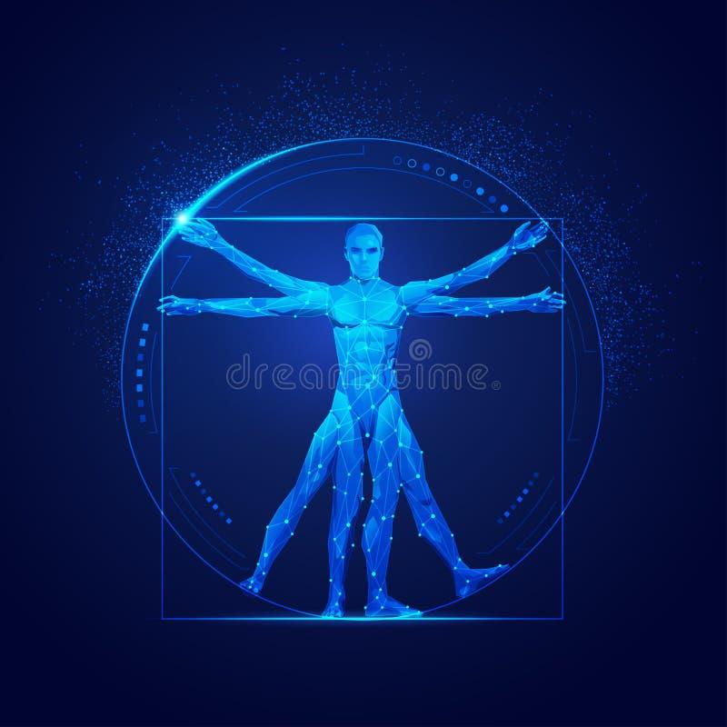 Homem de Vitruvian ilustração do vetor