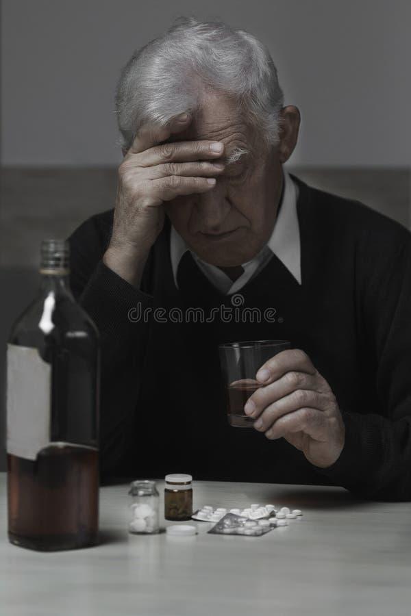 Homem deprimido foto de stock royalty free