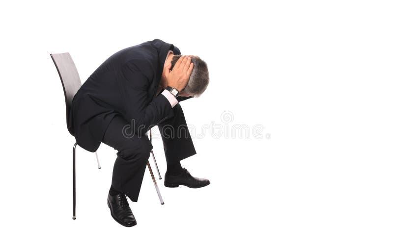 Homem deprimido imagens de stock royalty free