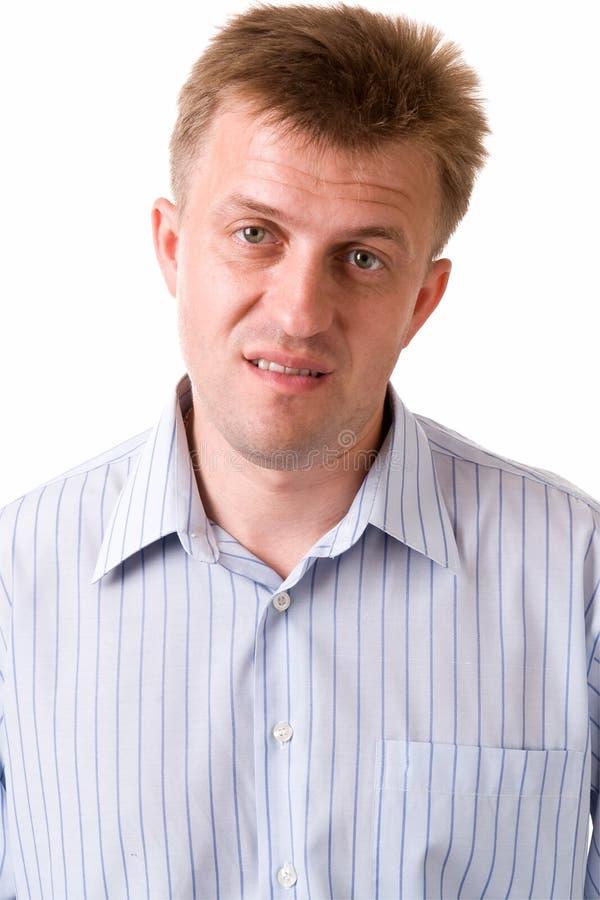 Homem descontentado foto de stock
