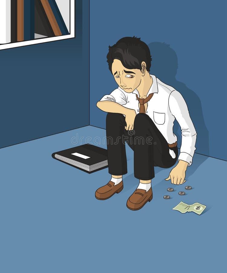 Homem desempregado ilustração do vetor